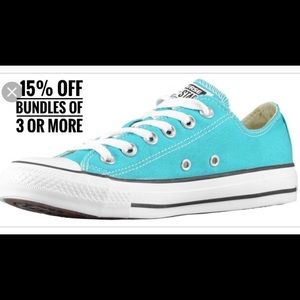 NWT converse all-star teal sneakers